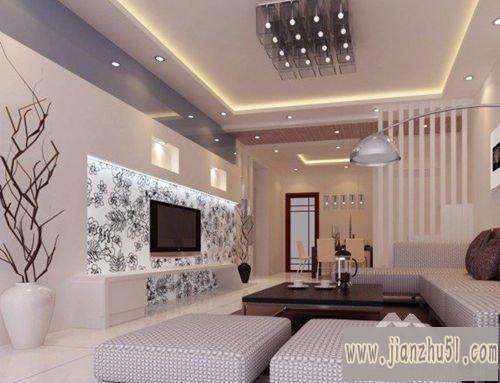 设计效果图,复式楼客厅电视墙如何设计.关于墙面装饰的那些